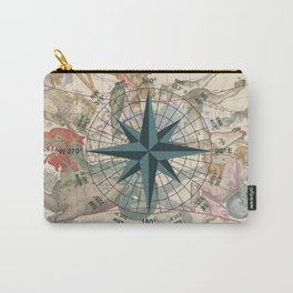 Compass Graphic with an ancient Constellation Map Carry-All Pouch