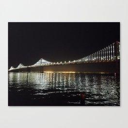 Bay Bridge Night Time Canvas Print