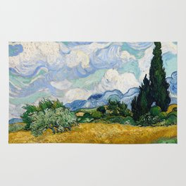 Vincent Van Gogh Wheat Field With Cypresses Rug