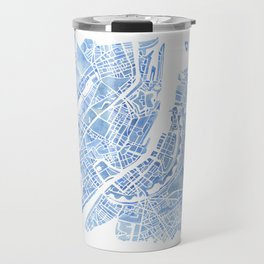 Copenhagen Denmark watercolor city map Travel Mug