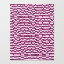Marsala Diamond Pattern Canvas Print