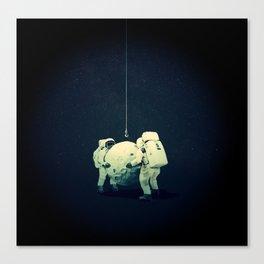 Moon hang Canvas Print