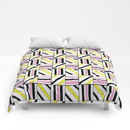 symetric tartan and gingham 2 -vichy, gingham,strip,square,geometric, sober,tartan Comforters