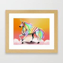 Zebra Unicorn Framed Art Print
