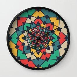Color full bloom mandala Wall Clock