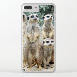 Meerkat20160208 Clear iPhone Case