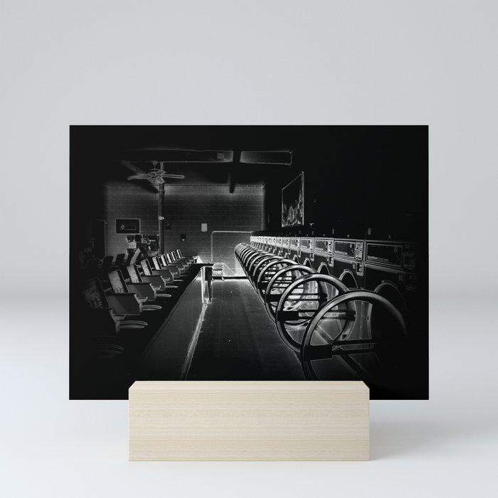 Darkside of the Laundry-mat Mini Art Print