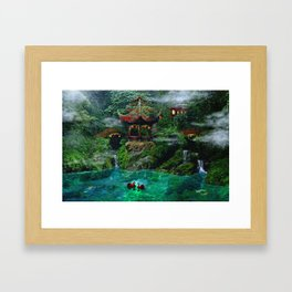 Tale of the Red Swans Framed Art Print