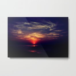 Swirly sunset Metal Print