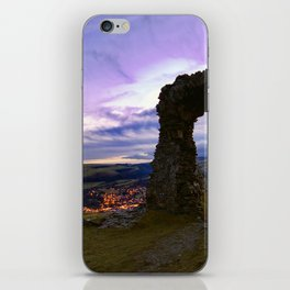 Town on the edge of forever iPhone Skin