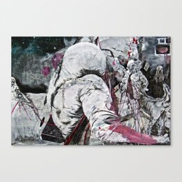 All my friends/Lost on the moon Canvas Print
