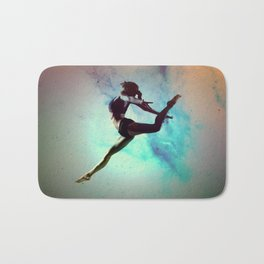 Ballet Dancer Feat Lady Dreams Abstract Art Bath Mat