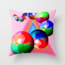 Bowling bowls Throw Pillow