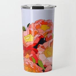 Peony Blooms Travel Mug