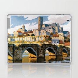 Limoges, French Travel Poster Laptop & iPad Skin