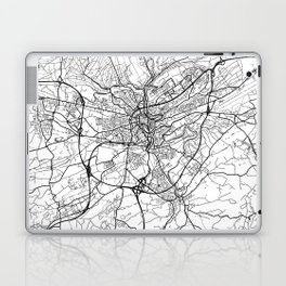 Luxembourg Map White Laptop & iPad Skin