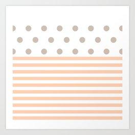 Simple pink dot Art Print