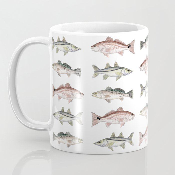 Pattern: Inshore Slam ~ Redfish, Snook, Trout by Amber Marine ~ (Copyright 2013) Coffee Mug