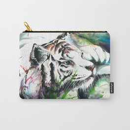 WHITE TIGER WATERCOLOR Carry-All Pouch