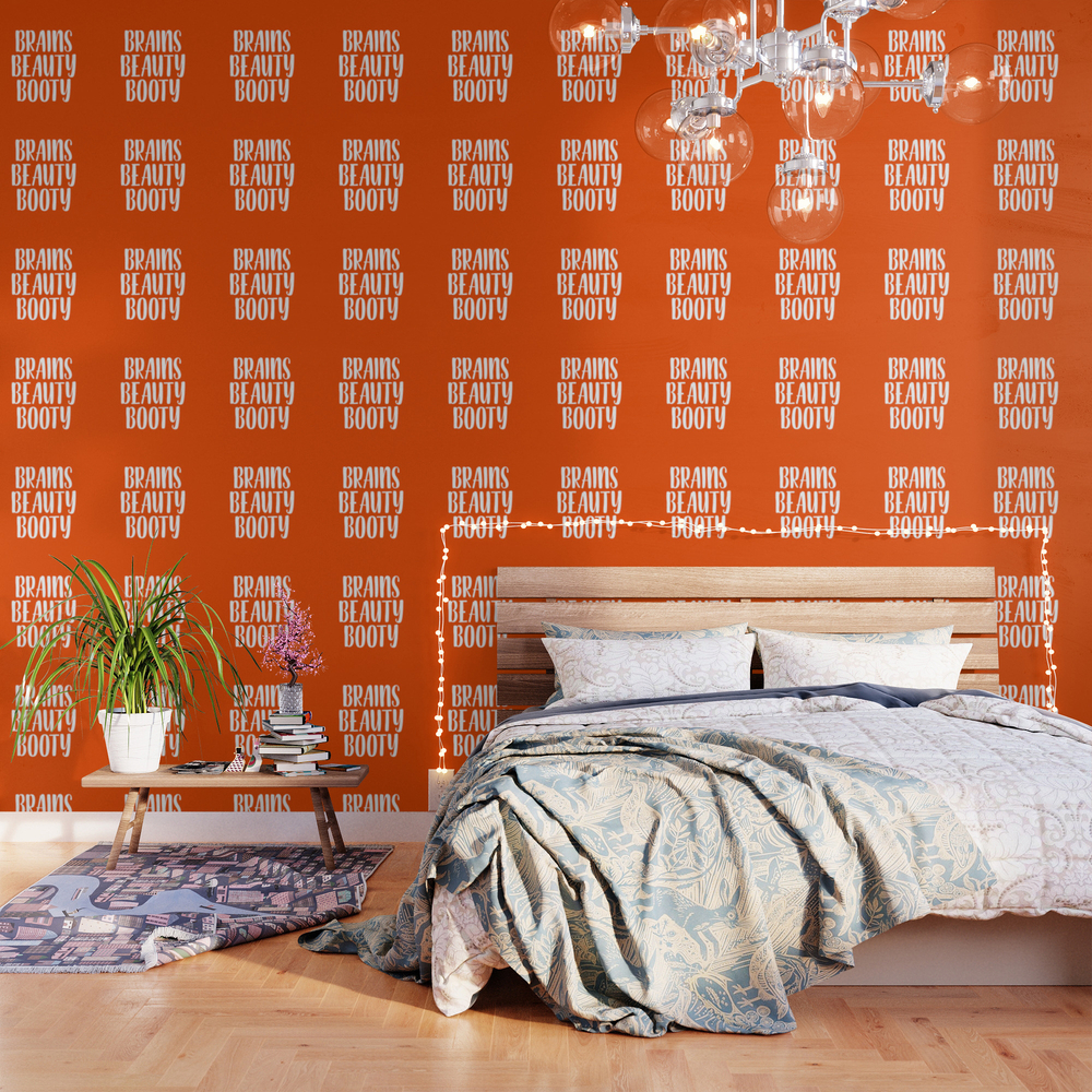 Brains Beauty Booty - Orange Wallpaper by Kalilainephotography WPP9031364