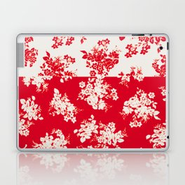 small bouquets in bright red with border Laptop & iPad Skin