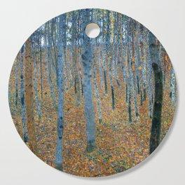 Gustav Klimt - Beech Grove I - Forest Painting Cutting Board