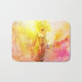 The Girl with the Sun in Her Hair - Summer Bloom Bath Mat