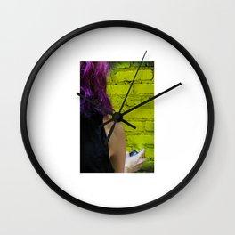 Spraypaint Wall Clock