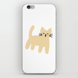 Cute mouse on white iPhone Skin