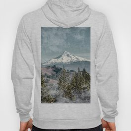 Frosty Mountain - Nature Photography Hoody