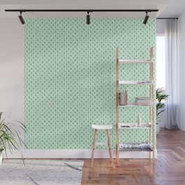 Forest Friends Woodland Animals Water Colors in Mint Green Wall Mural