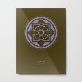 Kalachakra Mandala Metal Print