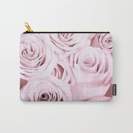 Pink Roses Flowers - Rose and flower pattern Carry-All Pouch