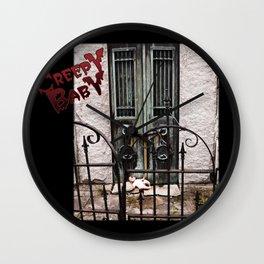 Creepy Baby #4 Wall Clock