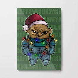 Happy Wholidays featuring Strax Metal Print