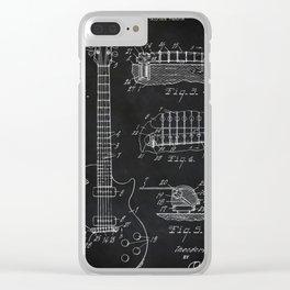 Gibson Guitar Patent Les Paul Vintage Guitar Diagram Clear iPhone Case