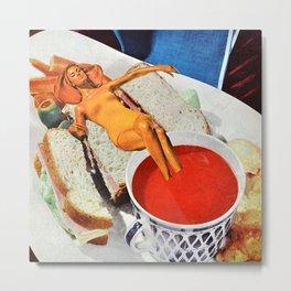 Food Coma Metal Print