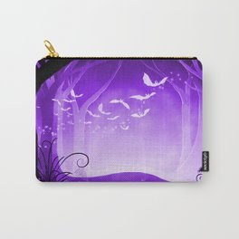 Dark Forest at Dawn in Amethyst Carry-All Pouch