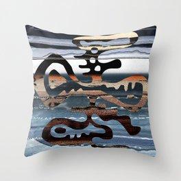 buried symbol Throw Pillow