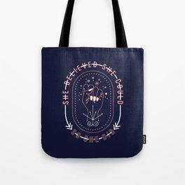 She Believed – Blush & Denim Palette Tote Bag