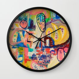 Rock Candy Smudge Wall Clock