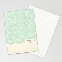 Mary - Mint and Cream Stationery Cards