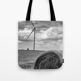 Country Wind Turbine Tote Bag