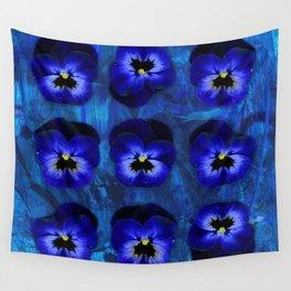 Deep Blue Velvet Wall Tapestry