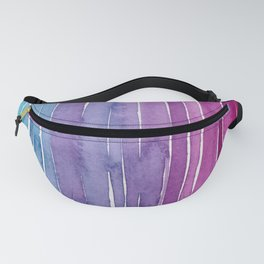 Ombre Watercolor - Turquoise & Magenta Fanny Pack