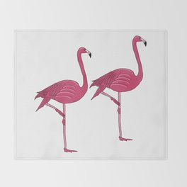 Felicty the flamingo Throw Blanket