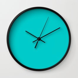 Robin Egg Blue Wall Clock