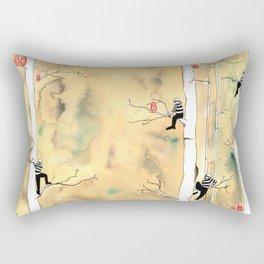 Burglars and Russian Nesting Dolls Rectangular Pillow