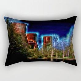 Digital Art Ironbridge Power Station Rectangular Pillow