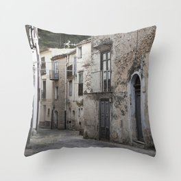 Sicilian Alley in Caltabellotta Throw Pillow